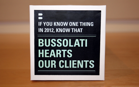 Bussolati Hearts Our Clients