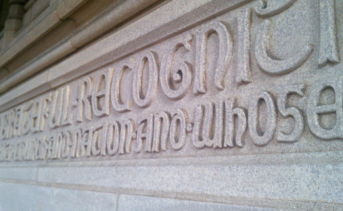 2lch || Washington National Cathedral Typography