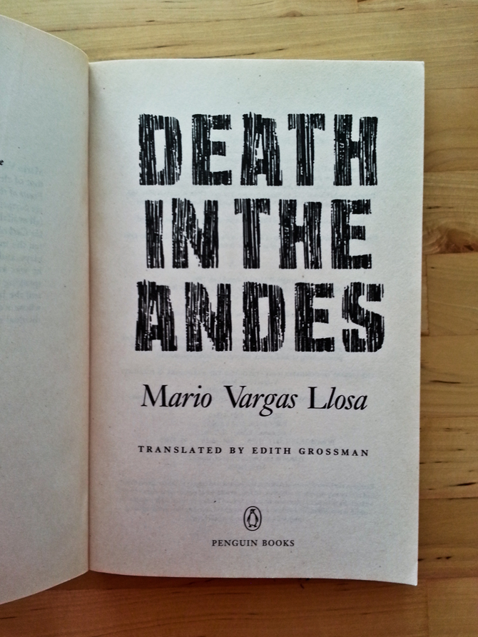 Death in the Andres by Mario Vargas Llosa book cover inspiration || 2lch