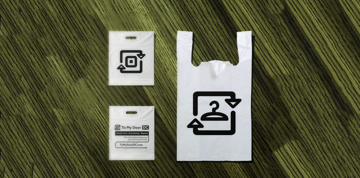 2LCH-Anna-Tulchinskaya-Branding-Design-Identity-Brand -Shopping-Bags-Dry-Cleaning.jpg & Brand Identity and Marketing Collateral Design for To My Door DC ... pezcame.com