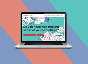 Marketing website for tax advisers: RushTaxes